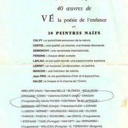 """Galerie """"Au grillon"""", France 1974."""