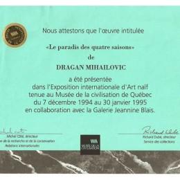 Izložba u muzeju civilizacije, Kanada 1995.