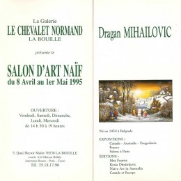 Invitation, expo, France 1995.