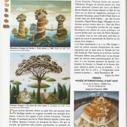 Art actualite magazine, France, 2005.